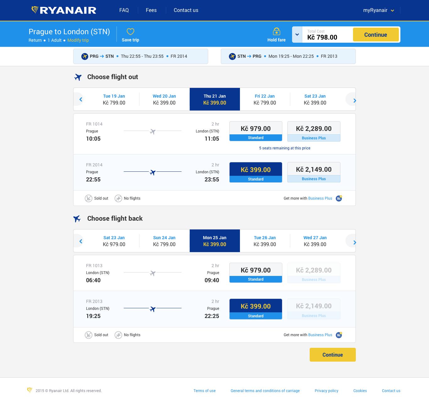 Ryanair Letenka do Londýna