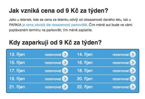 Parkování uletiště Praha, Parkia.cz