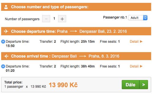Letenky na Bali z Prahy