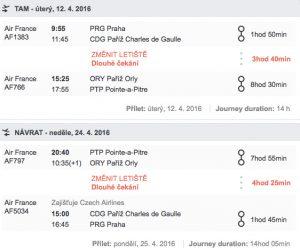 letenky na Guadeloupe z Prahy