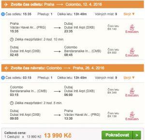 Letenky na Srí lanku s Emirates - 13 990 Kč