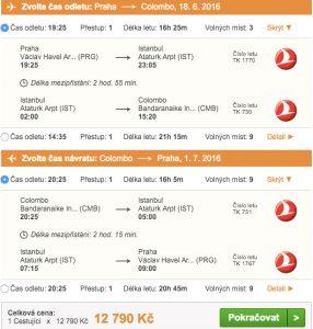 Letenky na Srí Lanku s Turkish Airlines - 12 790 Kč
