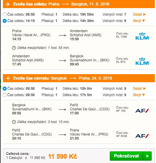 Letenky do Bangkoku od Pelikána - 11 590 Kč
