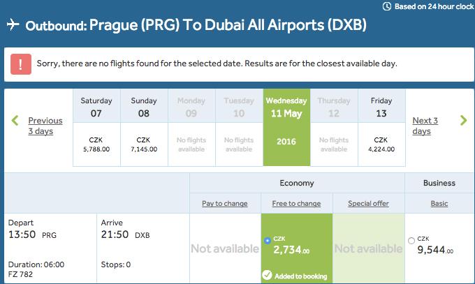 Letenky do Dubaje 5 388 Kč