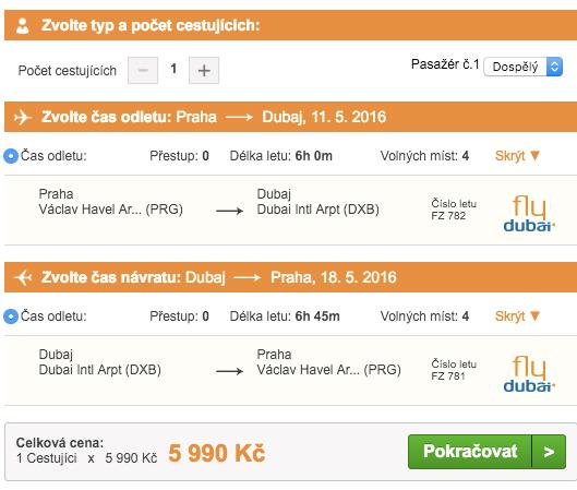 Letenky do Dubaje od Pelikána - 5 999 Kč
