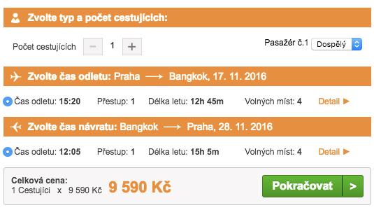 Letenky do Bangkoku - 9 590 Kč