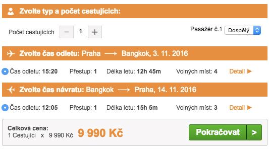 Letenky do Bangkoku - 9 990 Kč
