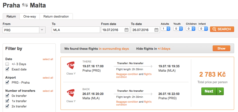 Letenky na Maltu z Prahy - 2 783 Kč