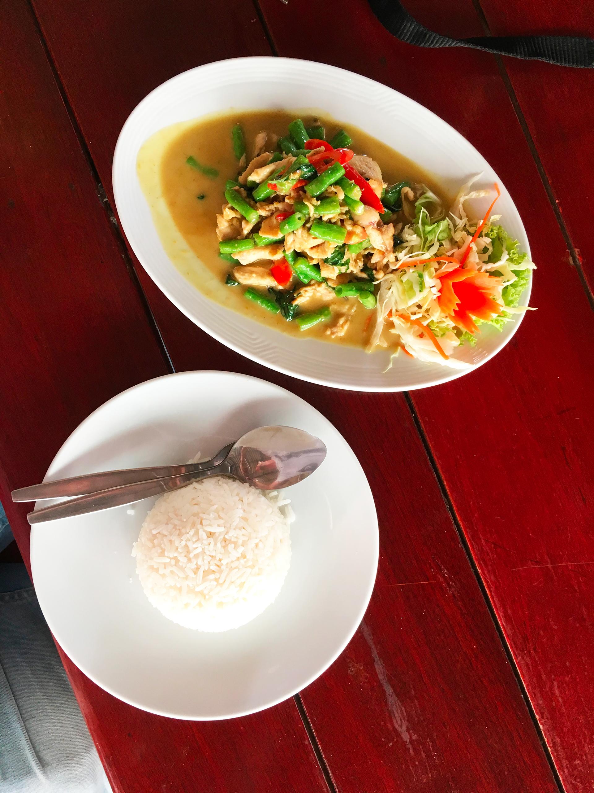 Thajská kuchyně, asparagus