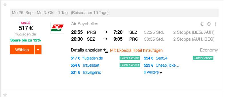 Letenky na Seychely - 13 990 Kč