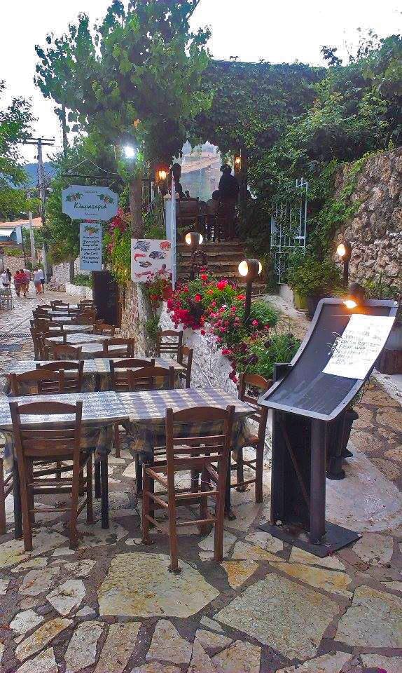 Večeře v taverně Agios Nikitas