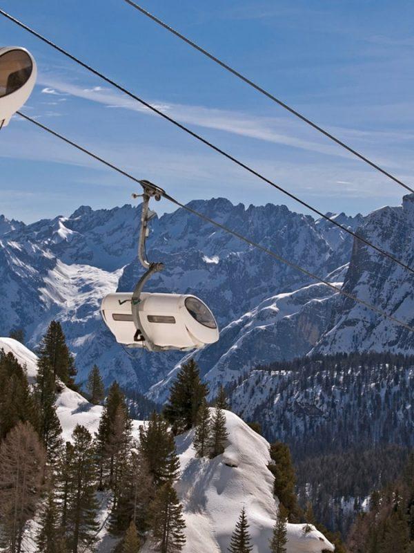 5 nejlepších lyžařských středisek v Itálii